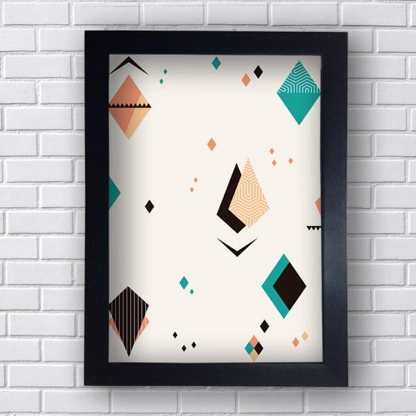 Quadro Decorativo com Triângulos