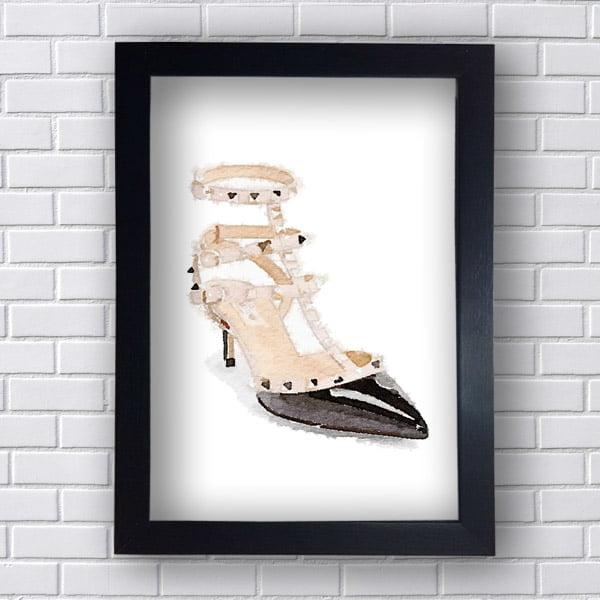 Quadro Decorativo Sapato Femenino