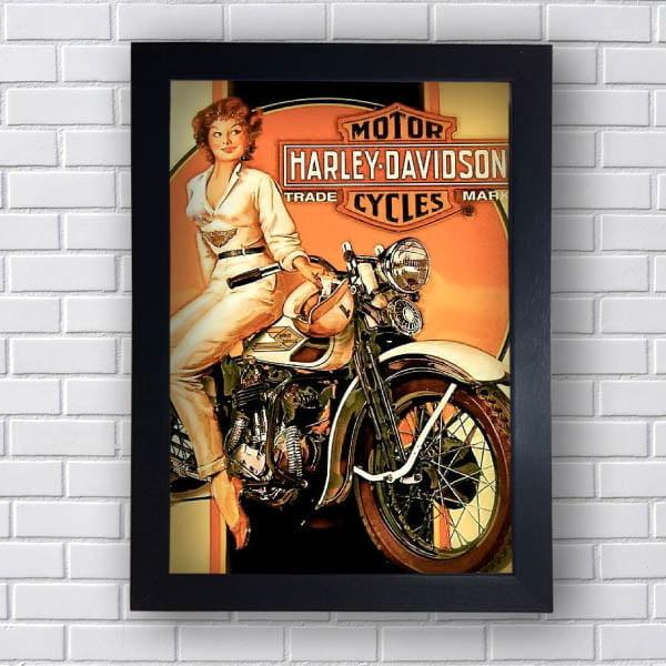 Quadro Decorativo Harley Davidson Cycles