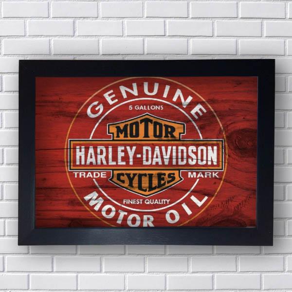 Quadro Decorativo Harley Davidson Motor Oil