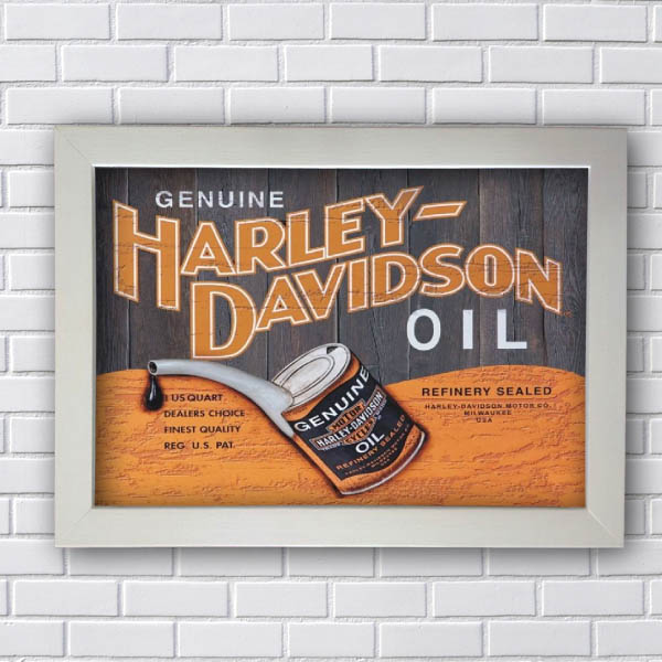 Quadro Decorativo Harley Davidson Oil