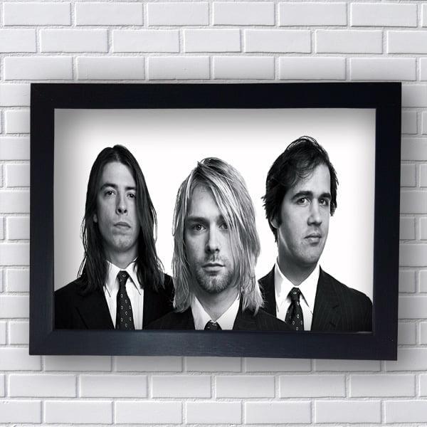 Quadro Kurt Cobain Nirvana
