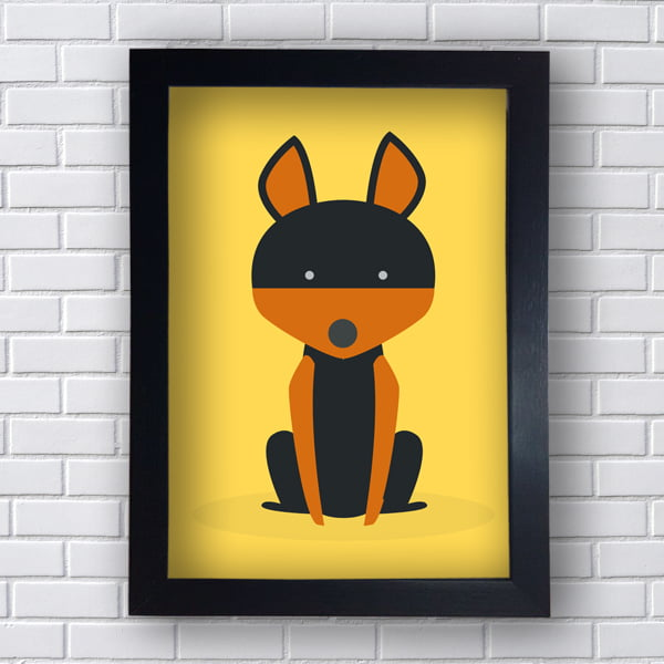 Quadro Decorativo DOG Dobermann