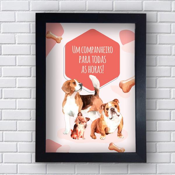 Quadro Decorativo UM CÃOPANHEIRO PARA TODAS AS HORAS