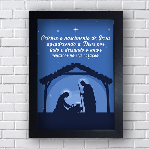 Quadro  Decorativo CELEBRE O NASCIMENTO DE JESUS