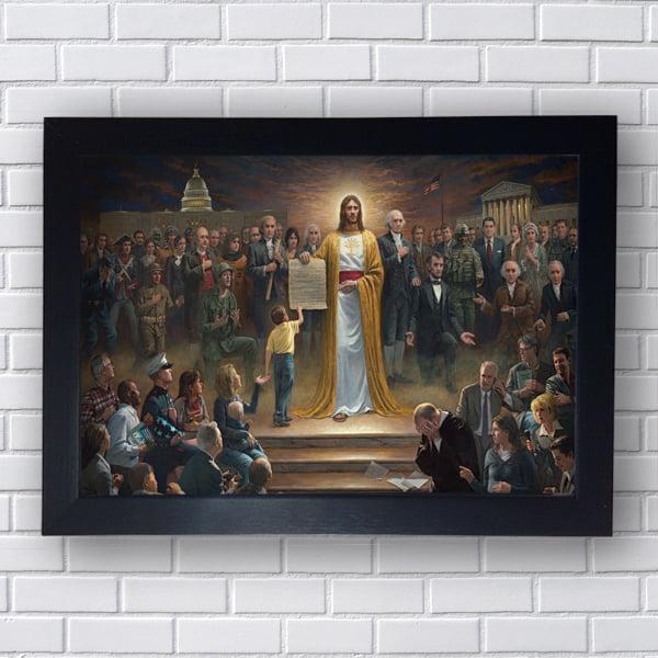 Quadro Decorativo ENSINAMENTOS DE JESUS