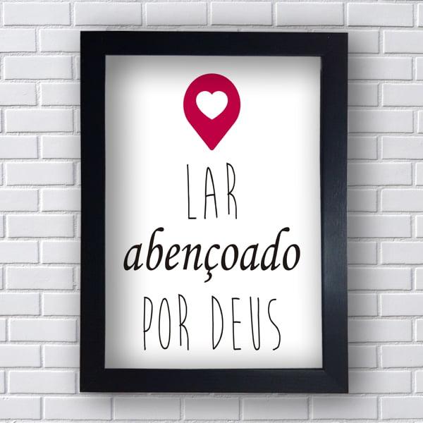 Quadro Decorativo LAR ABENÇOADO POR DEUS