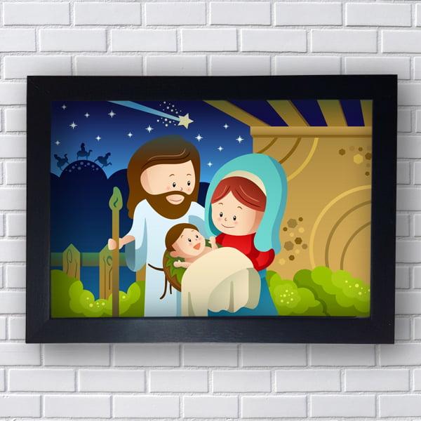 Quadro Decorativo NASCIMENTO DO MENINO JESUS