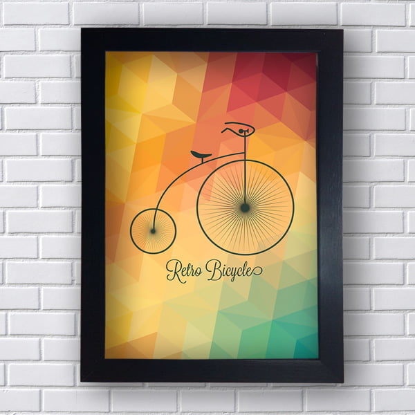 Quadro Bicicleta Retro