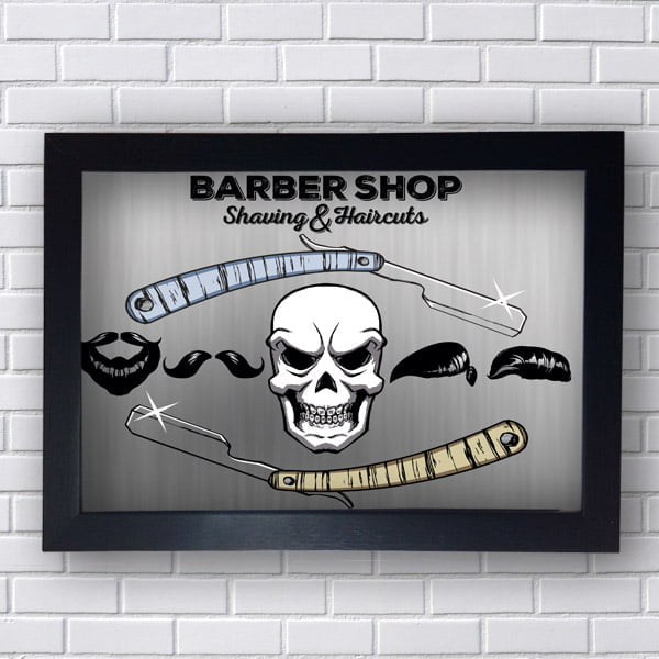 Quadro Caveira Barber