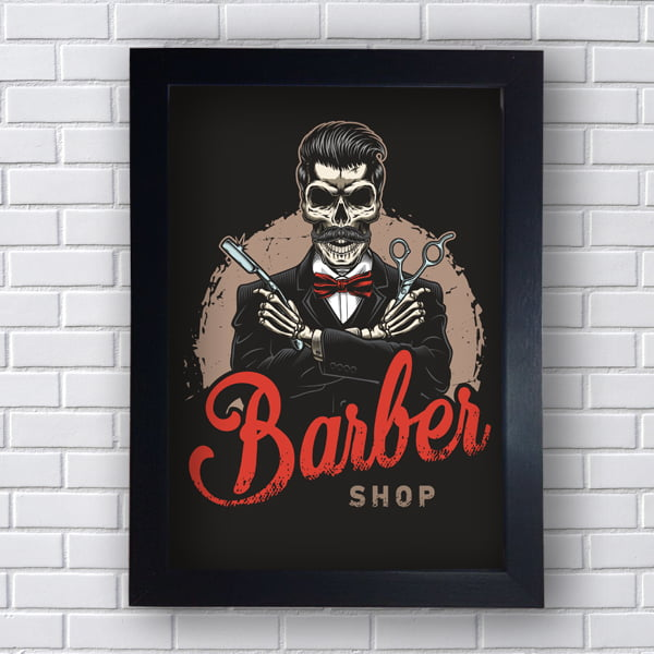 Quadro decorativo BARBEARIA SHOP