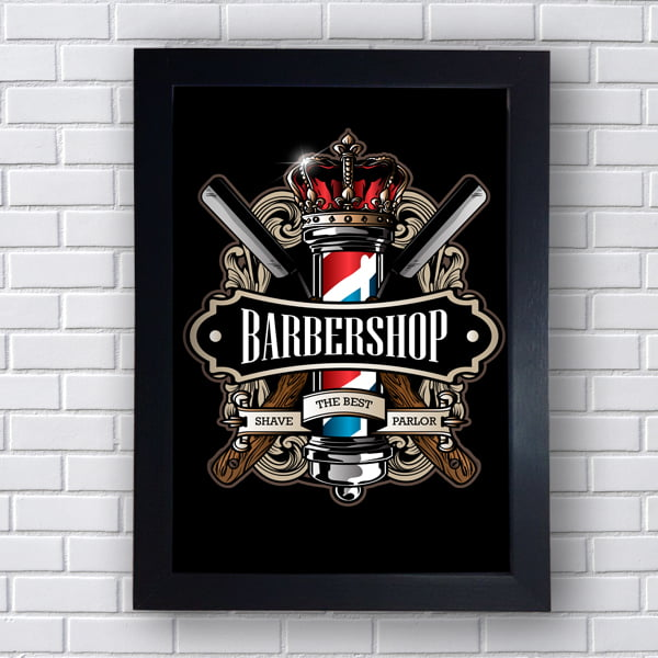 Quadro decorativo BARBER SHOP THE BEST