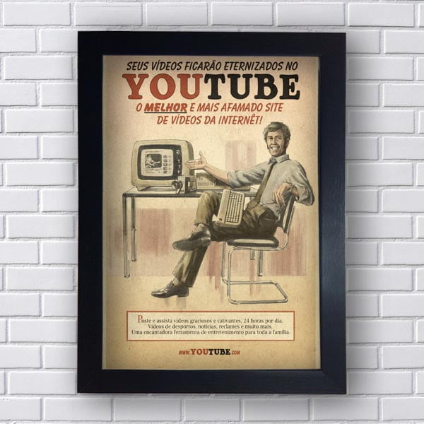 Quadro Decorativo YouTube