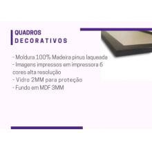 Kit 3 Quadros Decorativos Laranja