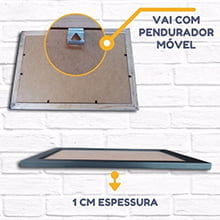 Kit 10 Molduras 25x25Cm Com vidro