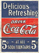 Placa Decorativa Retro Drink Coca Cola PDV065