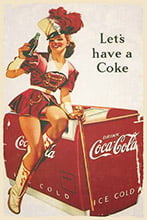 Placa Decorativa Vintage Retro Let´s have a Coke PDV068