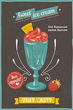 Placa Decorativa Vintage Retro Cream Tasty PDV070