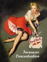 Placa Decorativa Vintage Retro Red Bull PDV121