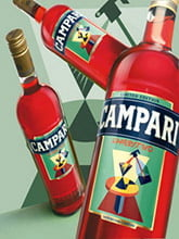 Placas Decorativas Bebidas Campari PDV386