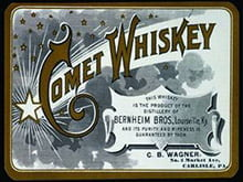 Placas Decorativas Bebidas Comet Whiskey PDV381