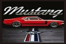 Placa Decorativa Vintage Carros Mustang PDV212