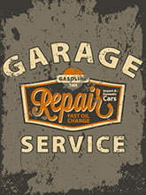 Placa Decorativa Vintage Carros Garage Service PDV195