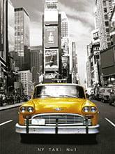 Placa Decorativa Vintage Carros Taxi New York PDV208