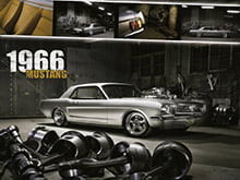 Placa Decorativa Vintage Carros Ford Mustang 1966 PDV207