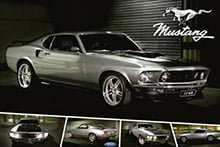 Placa Decorativa Vintage Carros Ford Mustang Classic PDV206