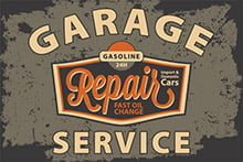 Placa Decorativa Vintage Carros Garage Service PDV218