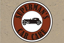 Placa Decorativa Vintage Carros Superman car care PDV224