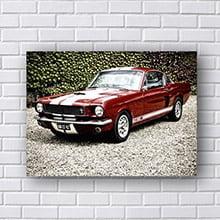 Quadro Decorativo Mustang Vermelho