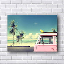 Quadro Kombi Surf Decorativo