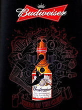 Placa Decorativa Budweiser King of the club beer PDV265