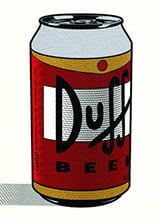 Placa Decorativa Duff Beer Lata PDV275