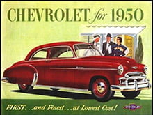 Placa Decorativa Retro Carros Chevrolet for 1950 PDV040