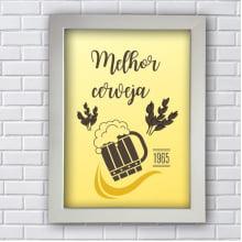 Placa Quadro Decorativa cerveja 1965