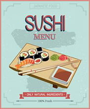 Placa Decorativa Sushi para cozinha PDV517