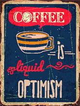 Placas Decorativas de Café Coffee Optimism para cozinha PDV527