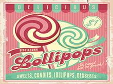 Placa Decorativa Lollipops para cozinha PDV525
