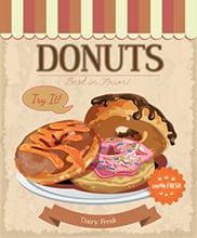 Placa Decorativa para cozinha Donuts PDV519