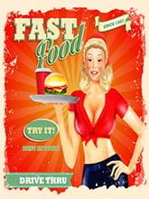 Placa Decorativa Fast Food para Cozinha PDV506