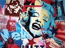 Placa Decorativa Vintage Retro Marilyn New York PDV153