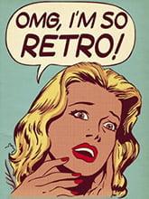 Placa Decorativa Vintage Retro I am So Retro PDV152