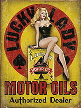 Placa Decorativa Vintage Retro Woman Motor Oil PDV196
