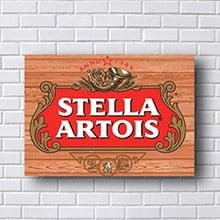 Placa Decorativa Retro Cerveja Stella Artois