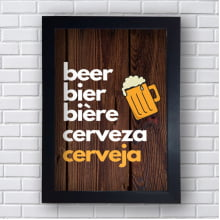 Placa Quadro Decorativa Beer cerveza