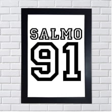 Placa Quadro Decorativa Salmo 91