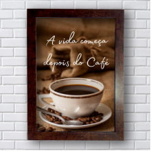 Placa Quadro Decorativo A vida começa depois do café